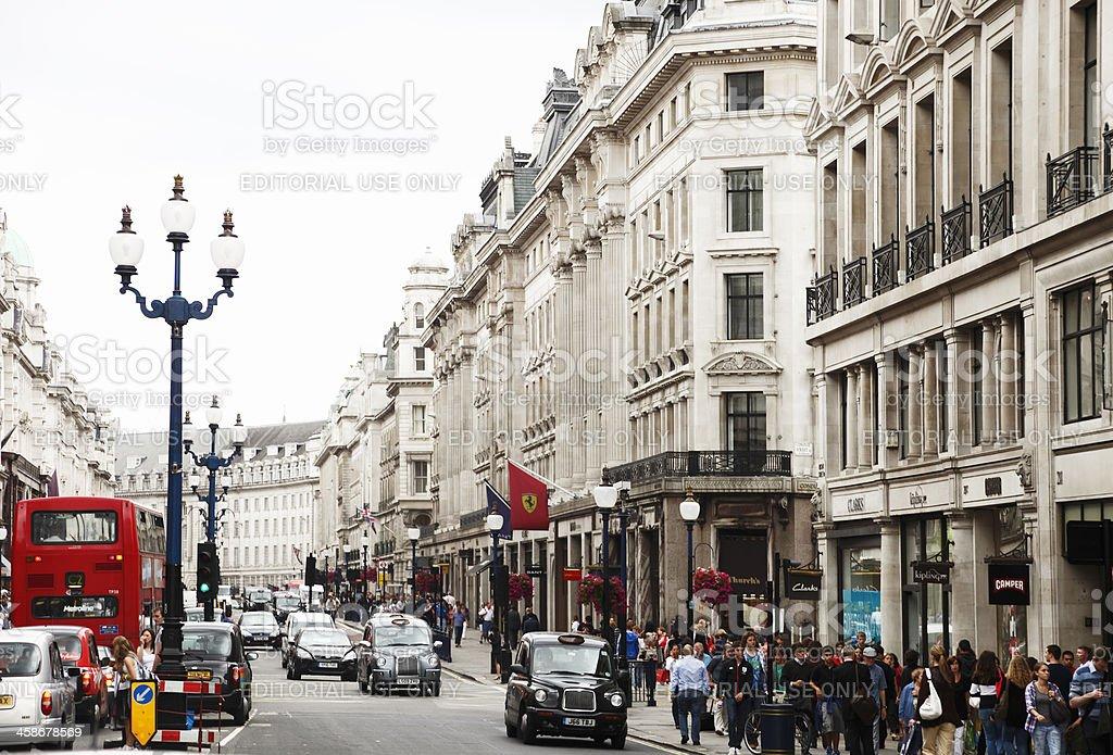 Regent's Street, London stock photo