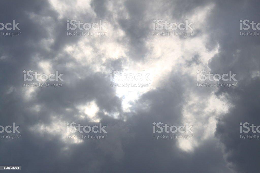 Regenwolken am Himmel stock photo