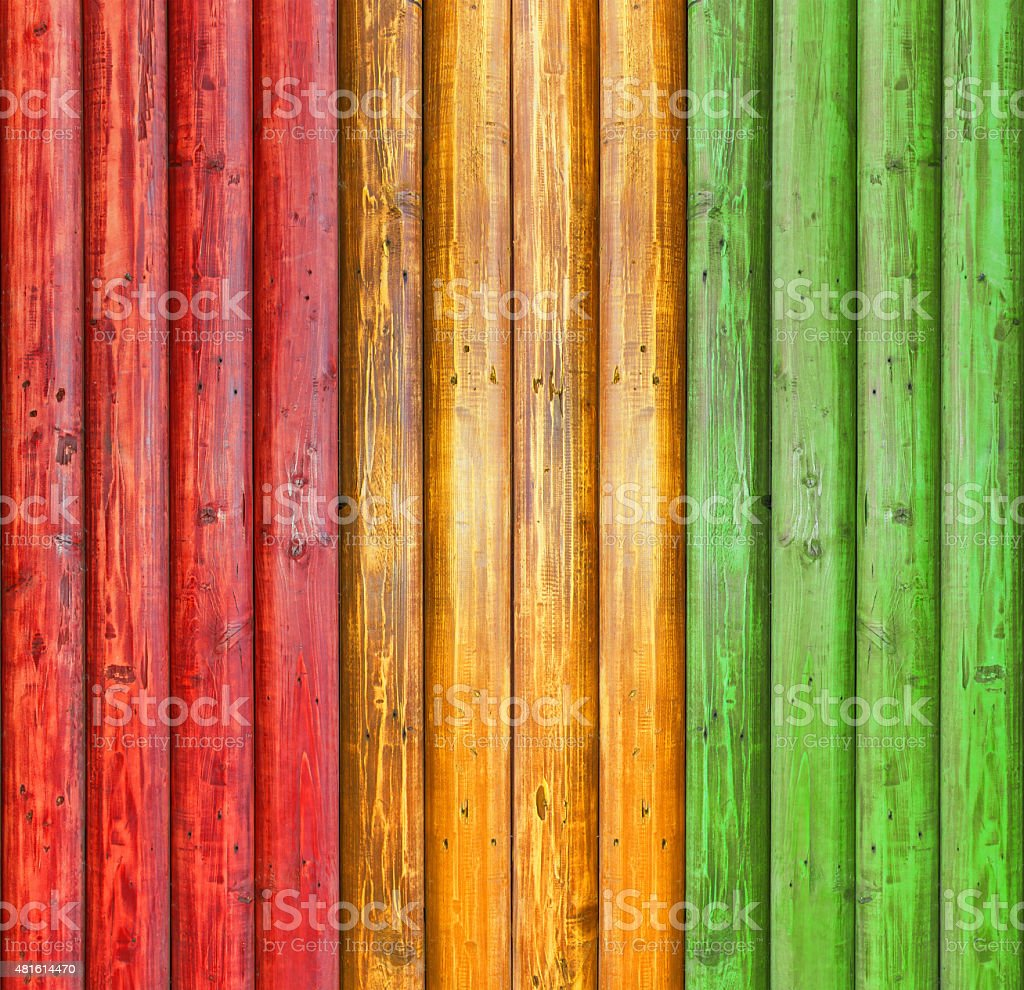 reggae colour and wood plank Background stock photo