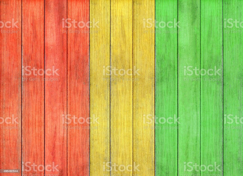reggae colour and wooden floor texture Background stock photo