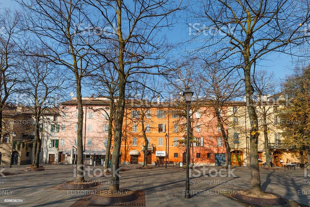 Reggio Emilia, Piazza Fontanesi - Emilia Romagna, Italy stock photo