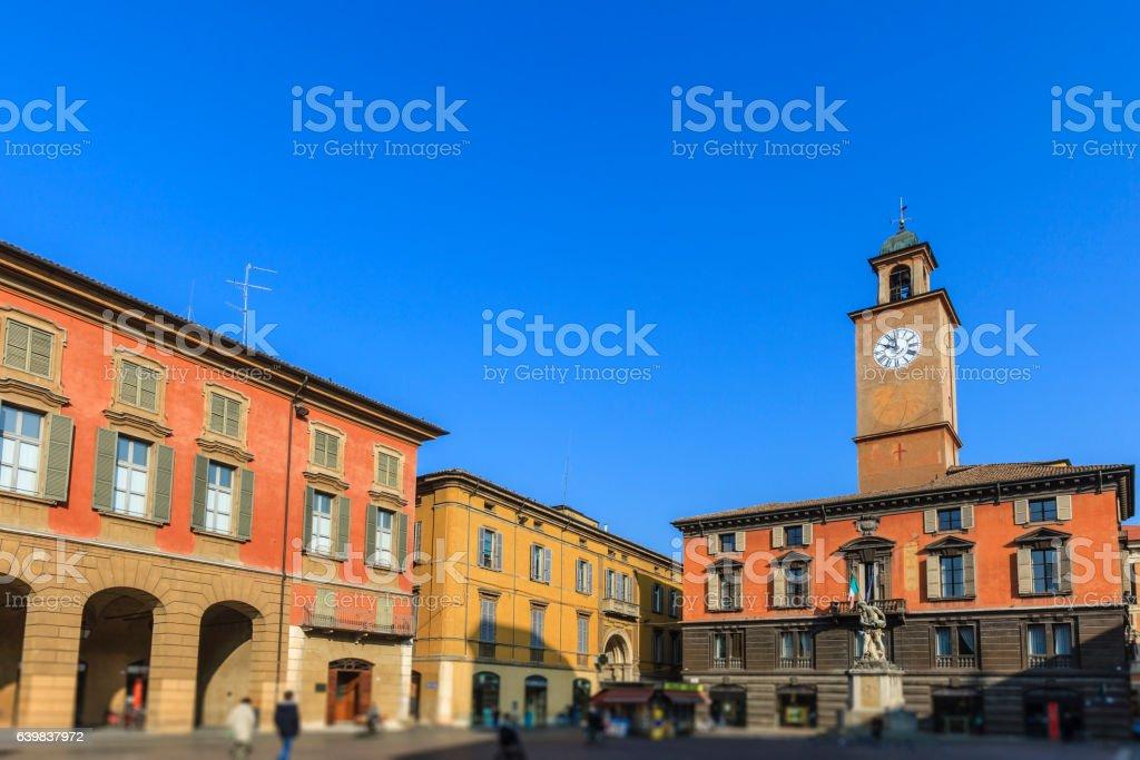 Reggio Emilia, Piazza Prampolini - Emilia Romagna, Italy stock photo