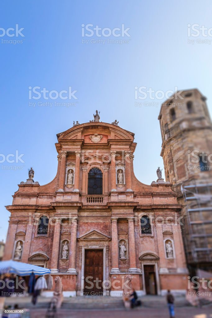 Reggio Emilia, San Prospero Church- Emilia Romagna, Italy stock photo