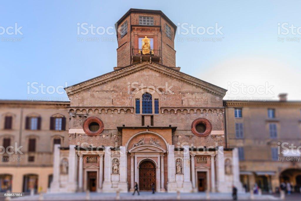 Reggio Emilia, the Cathedral- Emilia Romagna, Italy stock photo