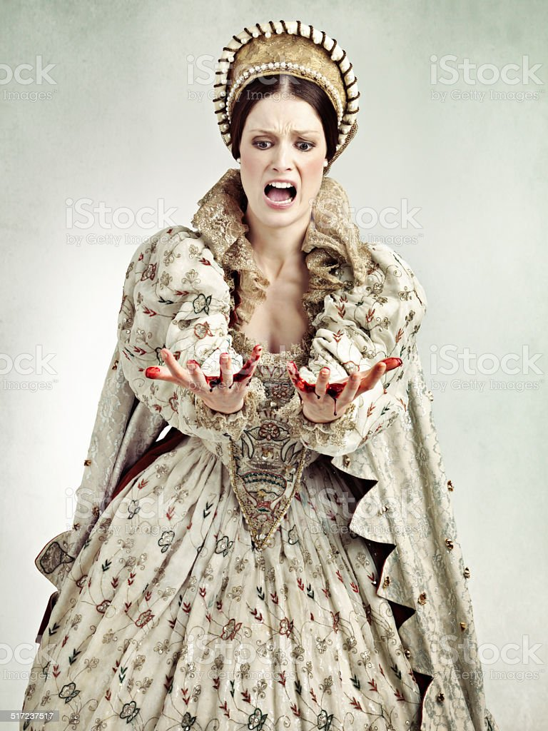 Regicide is bloody business stock photo