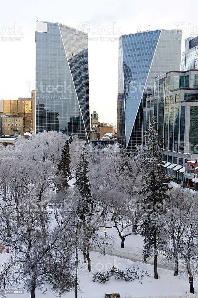 Regina after Ice Fog stock photo