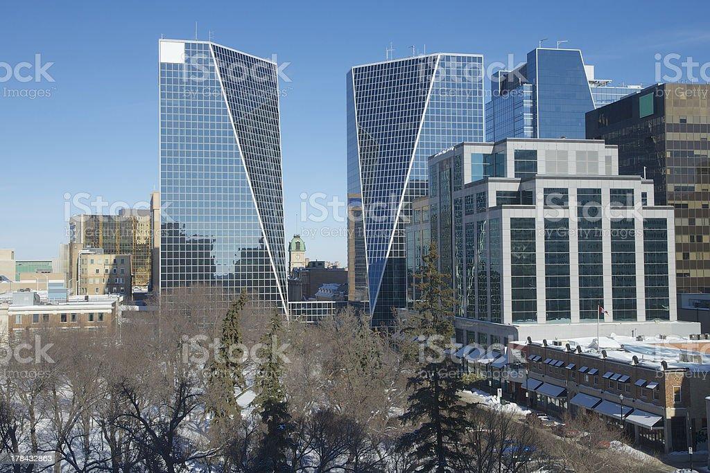 Regina Downtown stock photo