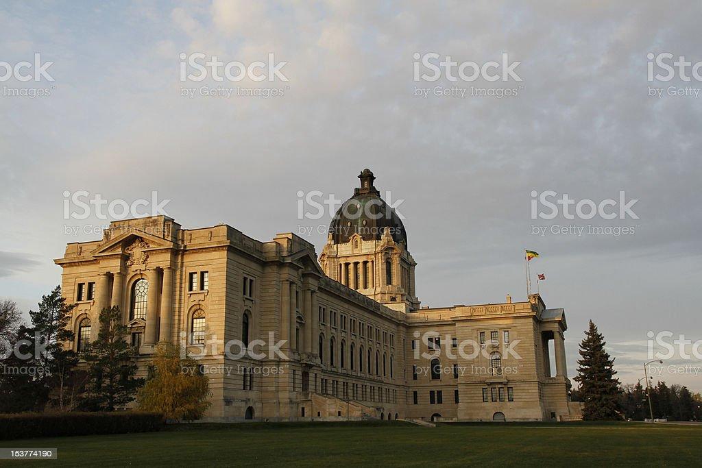Regina`s Parliament Building royalty-free stock photo