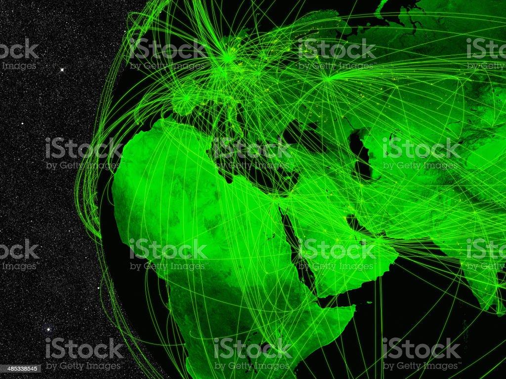 EMEA region network stock photo