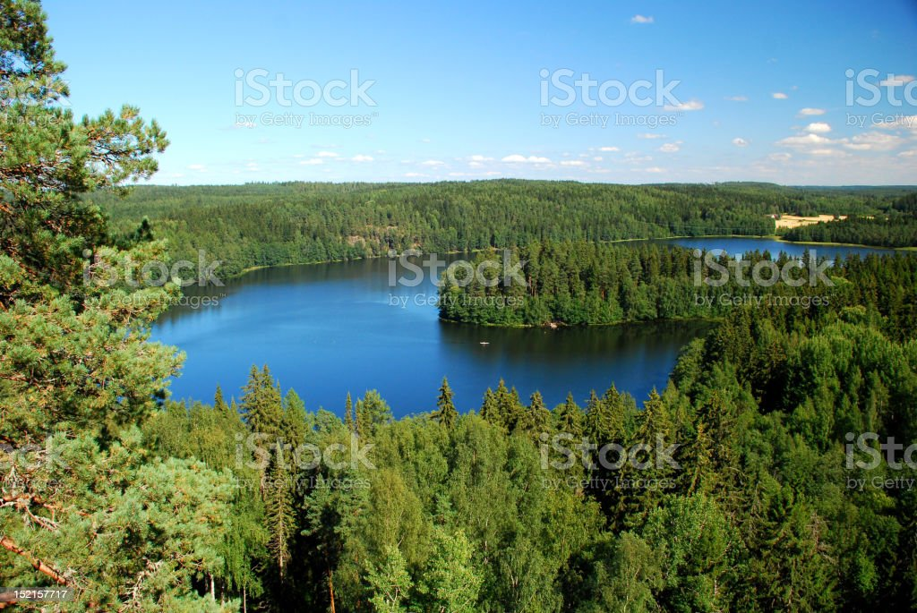 Region of a thousand lakes. royalty-free stock photo