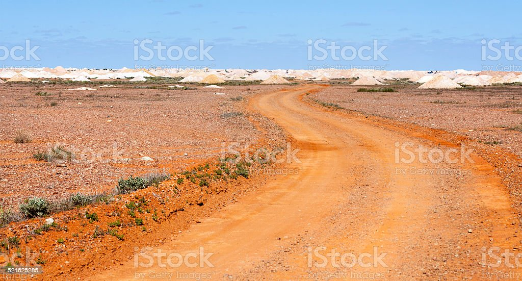 Region of Coober Pedy mining town in South Australia stock photo