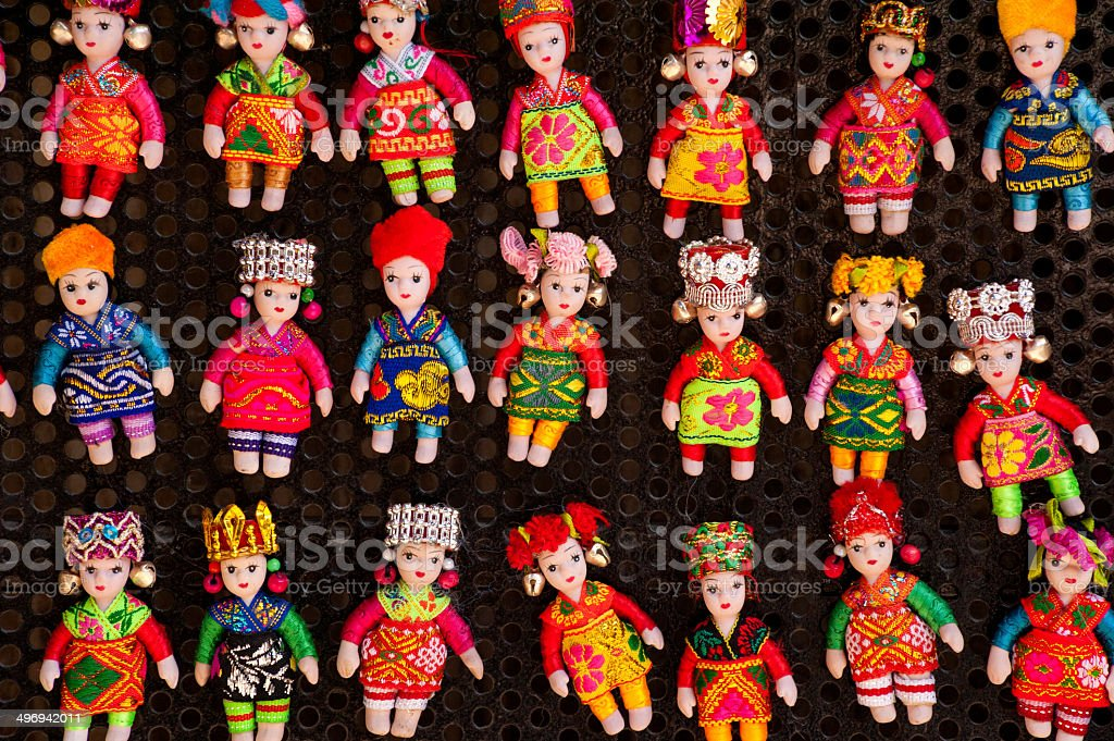 Regional clad babies stock photo