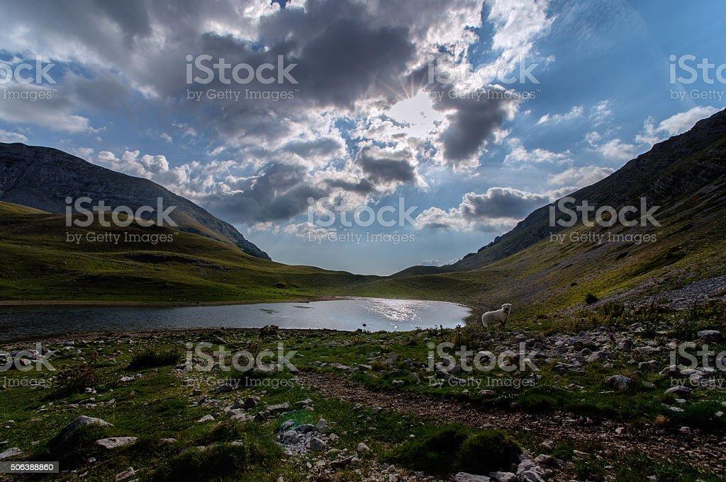 Regional nature reserve Mountains of Duchessa - Lazio, Italy stock photo