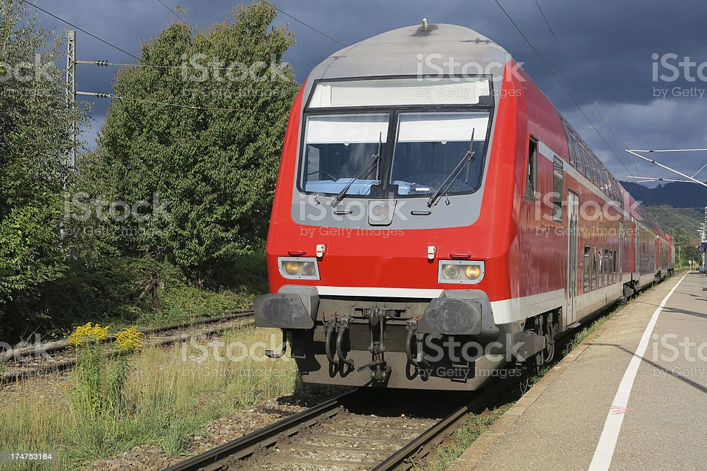 Regional passenger train in Germany stock photo