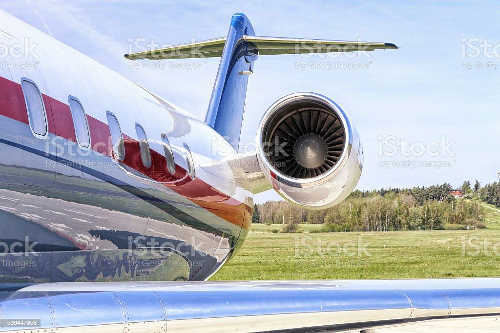 Regional plane engine stock photo