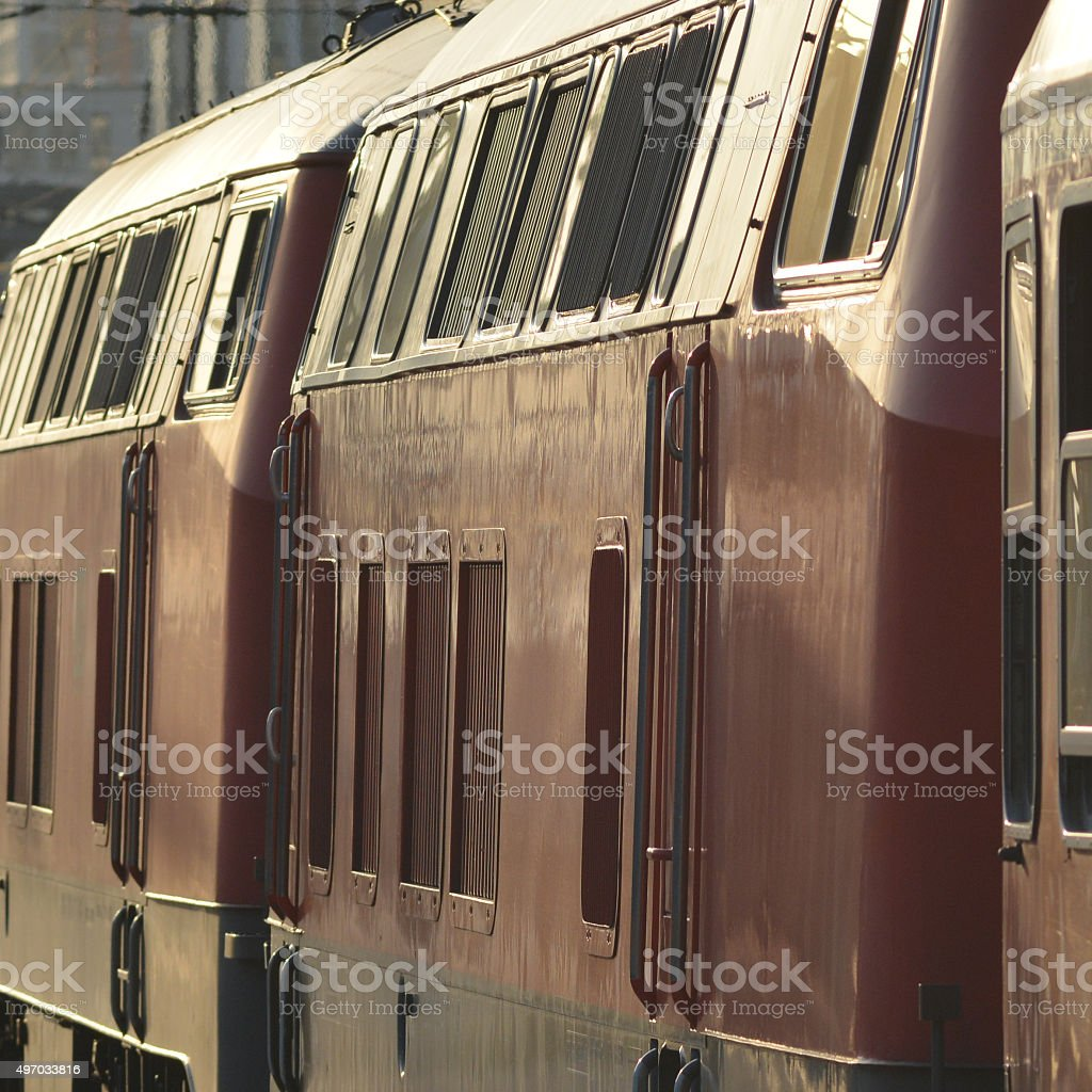 Regional Train departing Munich stock photo