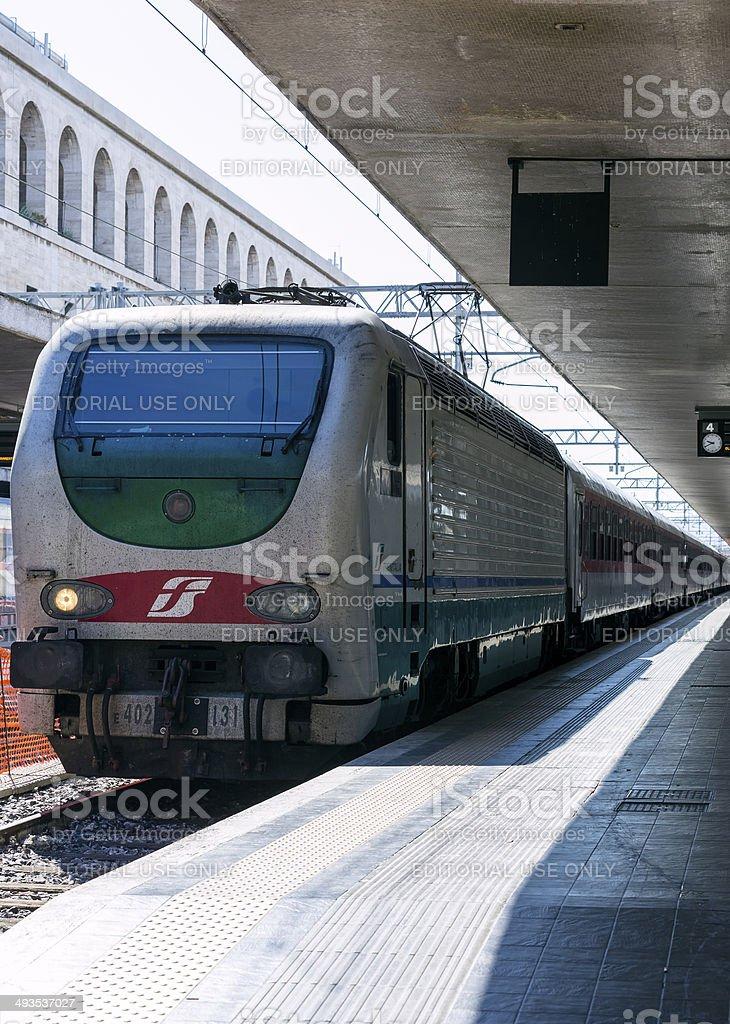 Regional Train leaving Termini Station royalty-free stock photo
