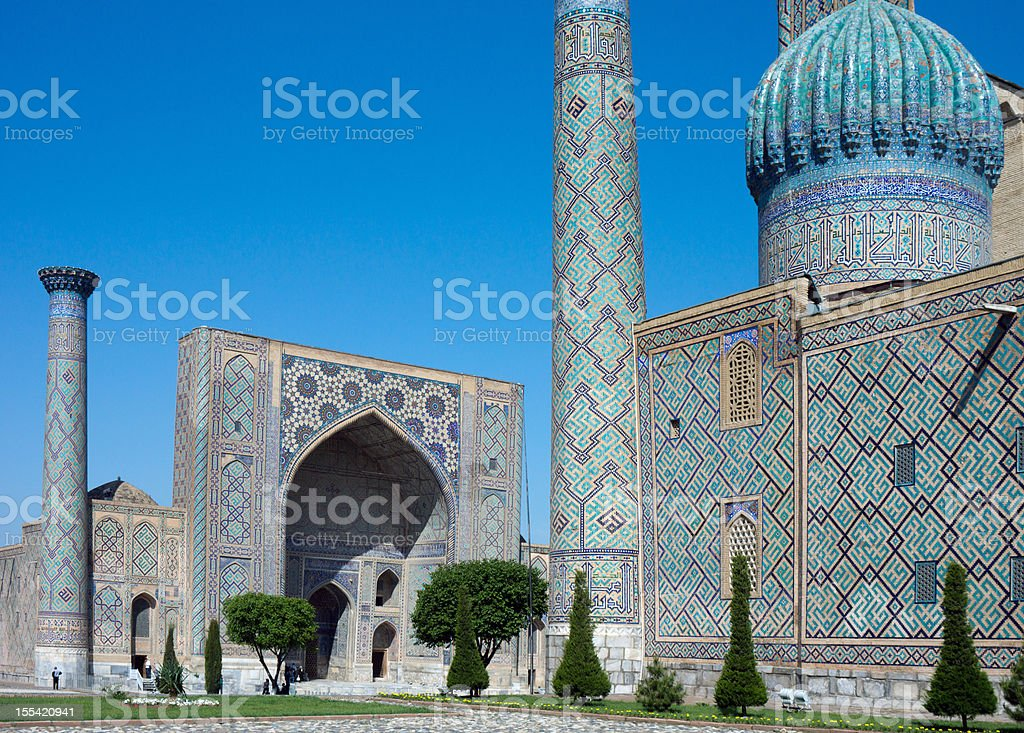 Registan Square, Samarkand stock photo