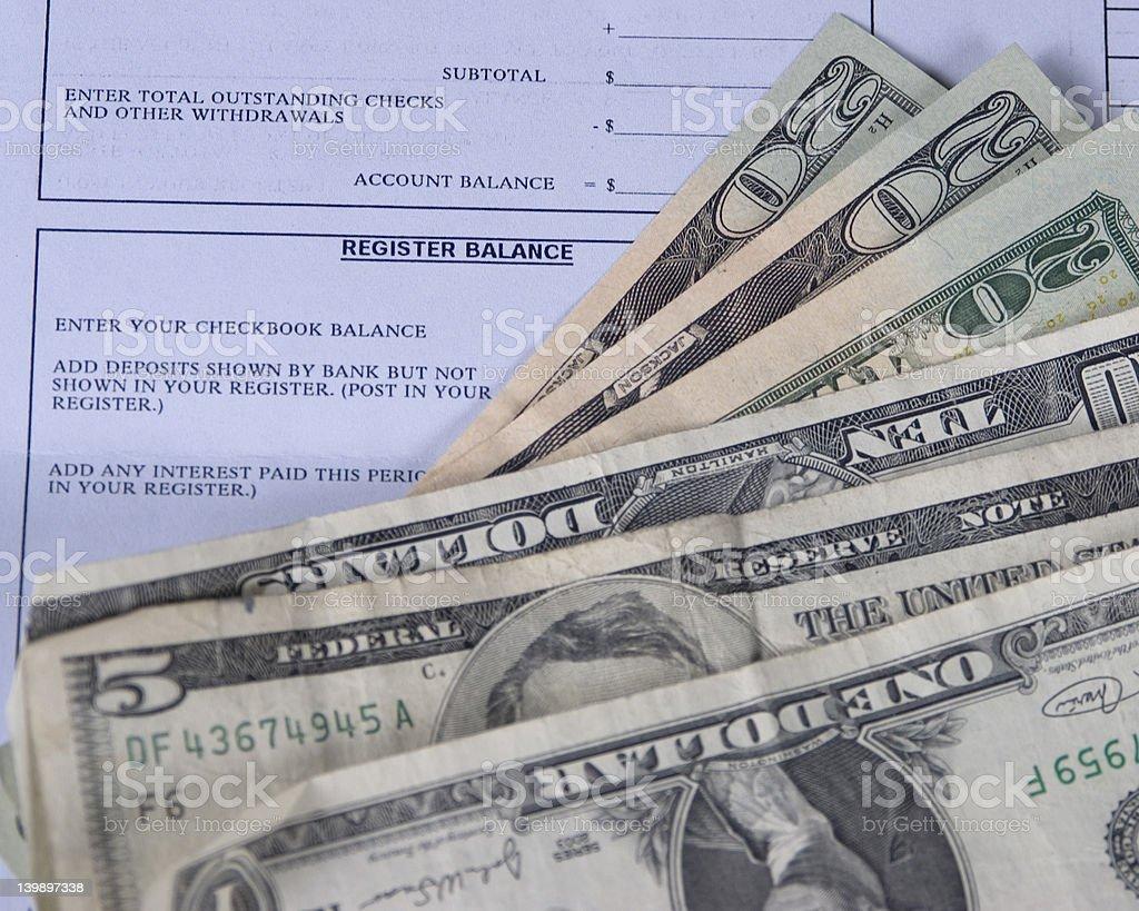 Register balance royalty-free stock photo