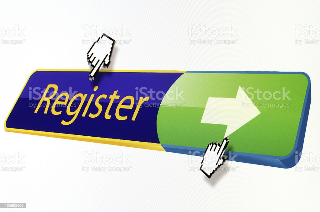 Register button royalty-free stock photo