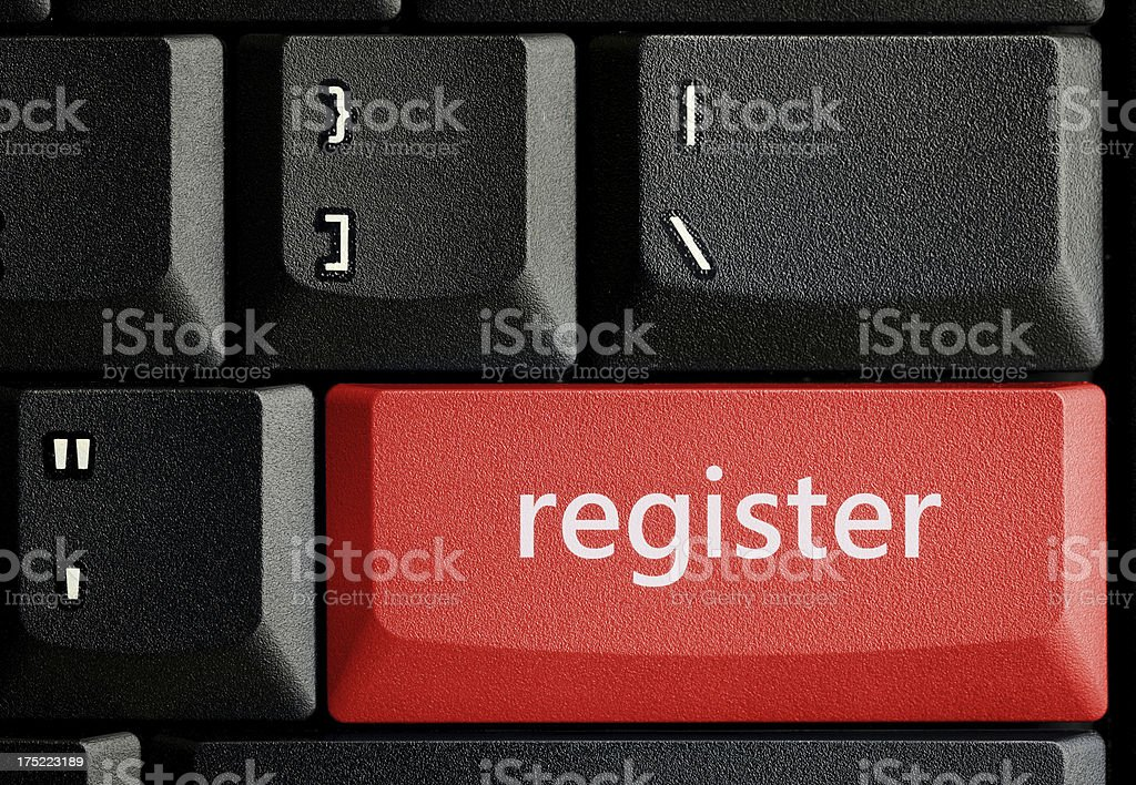 Register key concept royalty-free stock photo