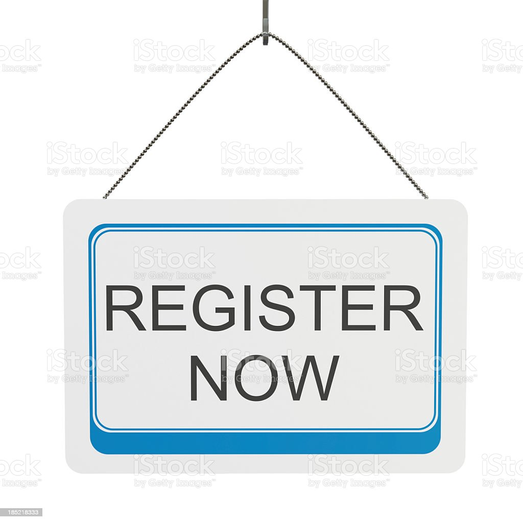 Register Now royalty-free stock photo