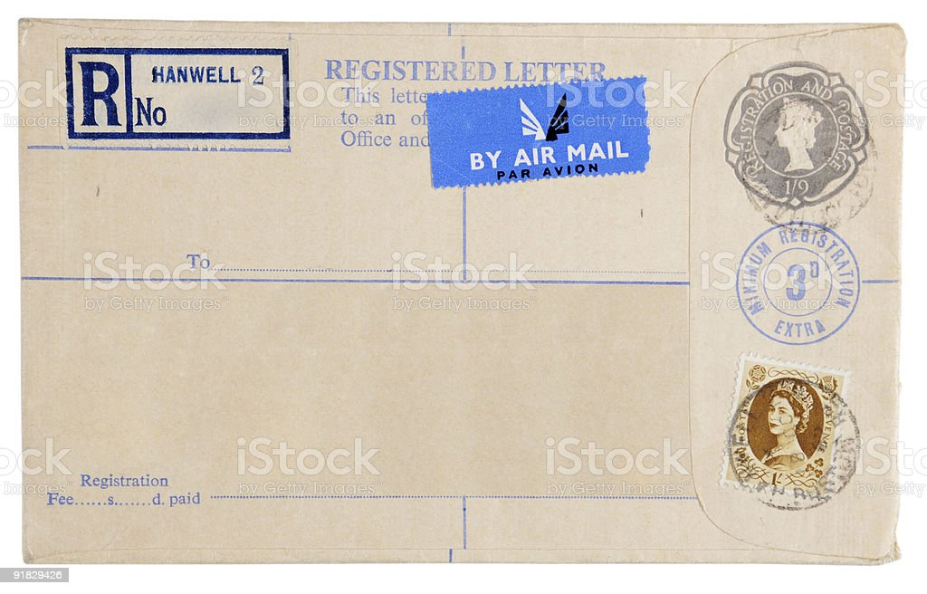 Registered letter royalty-free stock photo