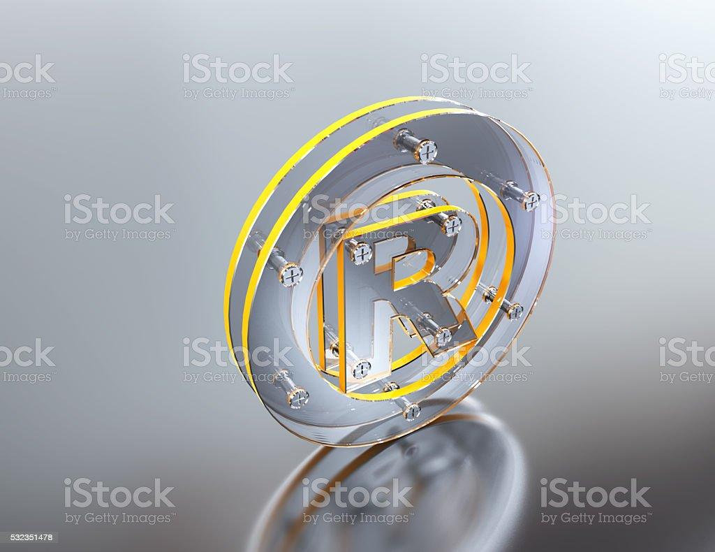 Registered mark-concept stock photo