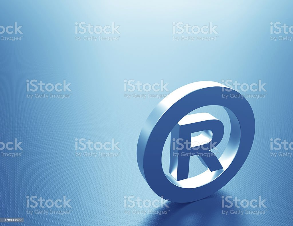 Registered mark-Metallic stock photo