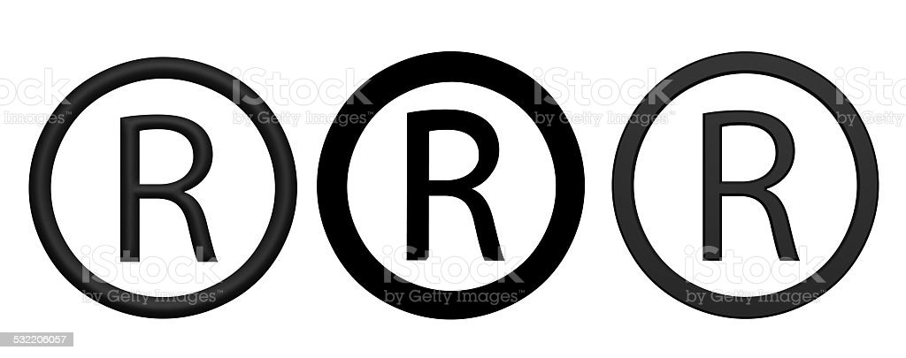 Registered R icons stock photo