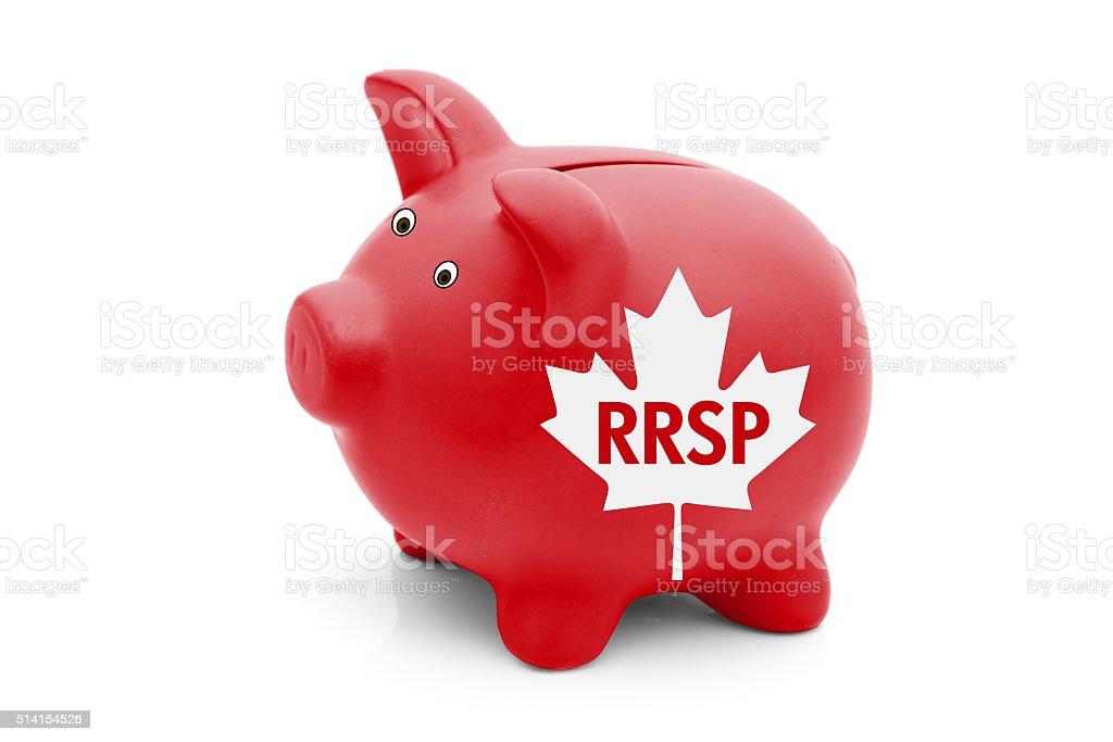 Registered Retirement Savings Plan in Canada stock photo