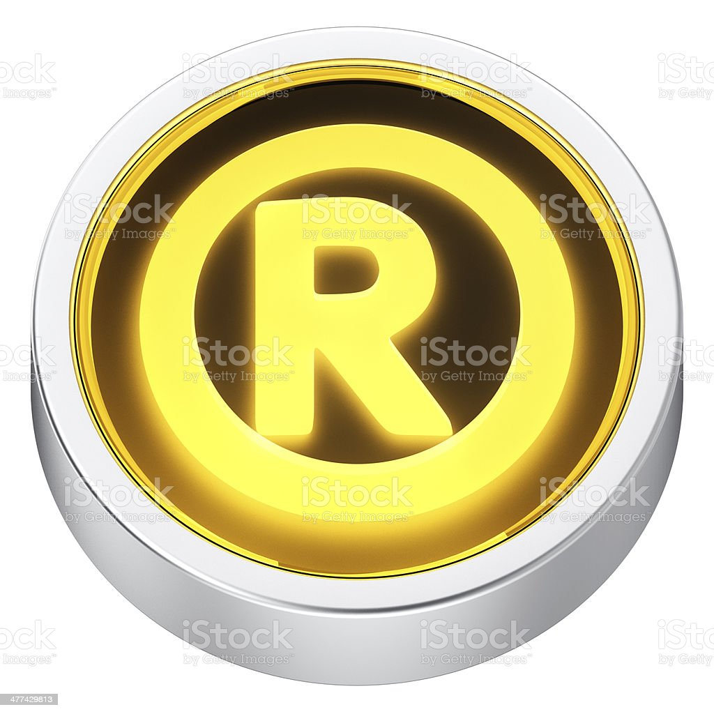 Registered sign round icon stock photo