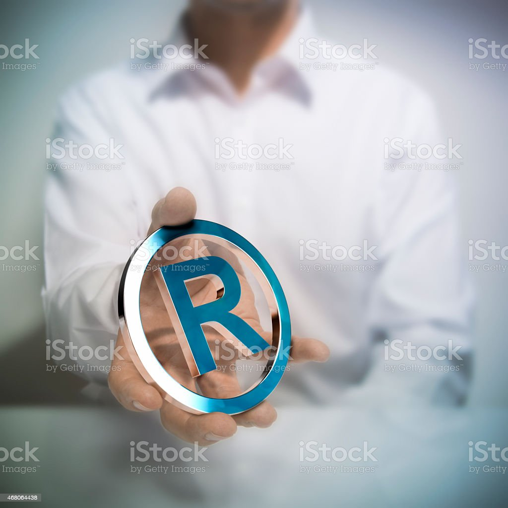 Registered Trademark stock photo