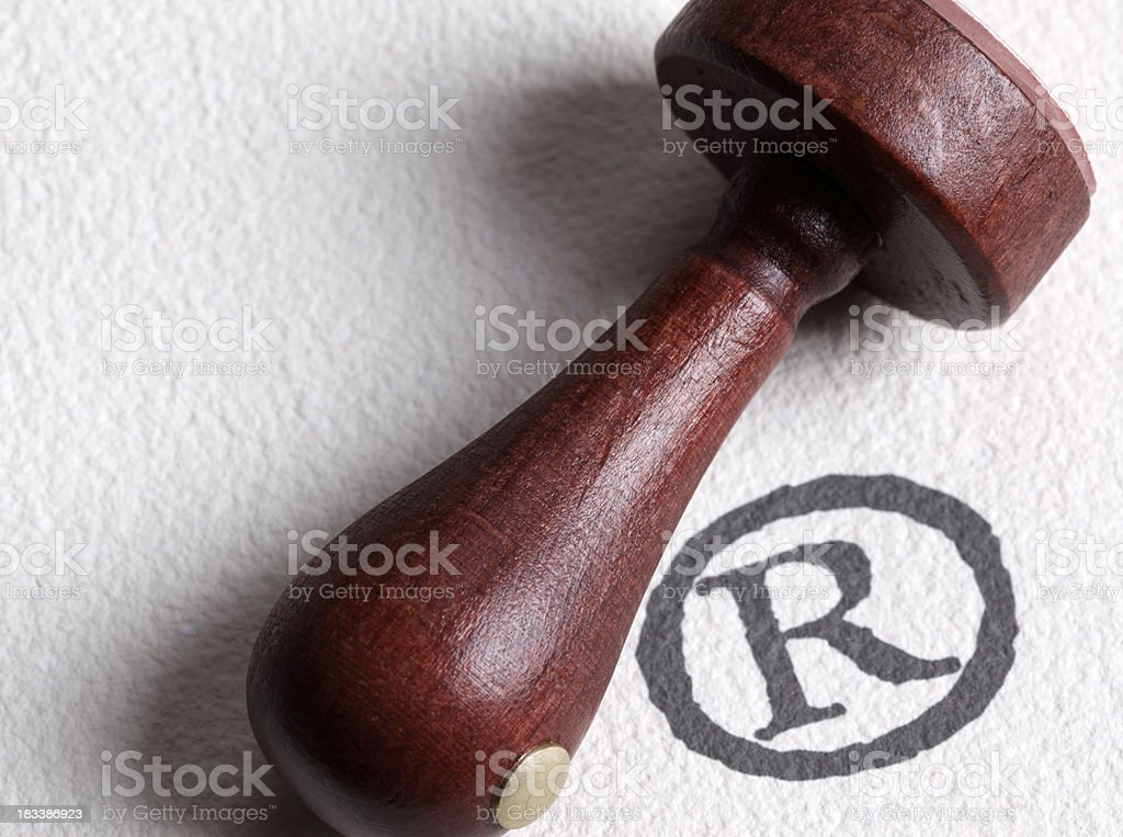 Registered trademark symbol royalty-free stock photo