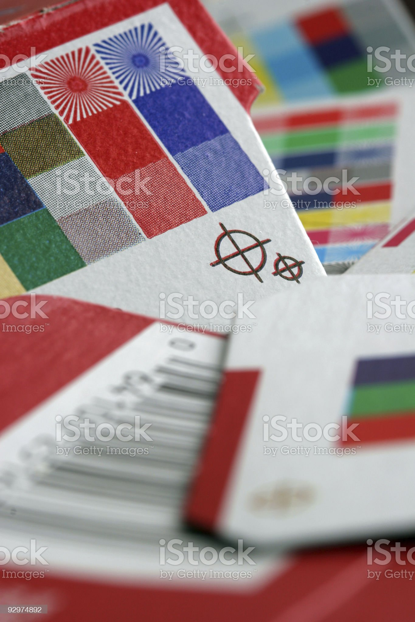 Registration and color marks royalty-free stock photo