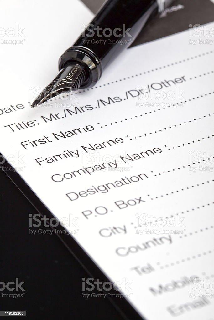 Formulário de Registo foto de stock royalty-free