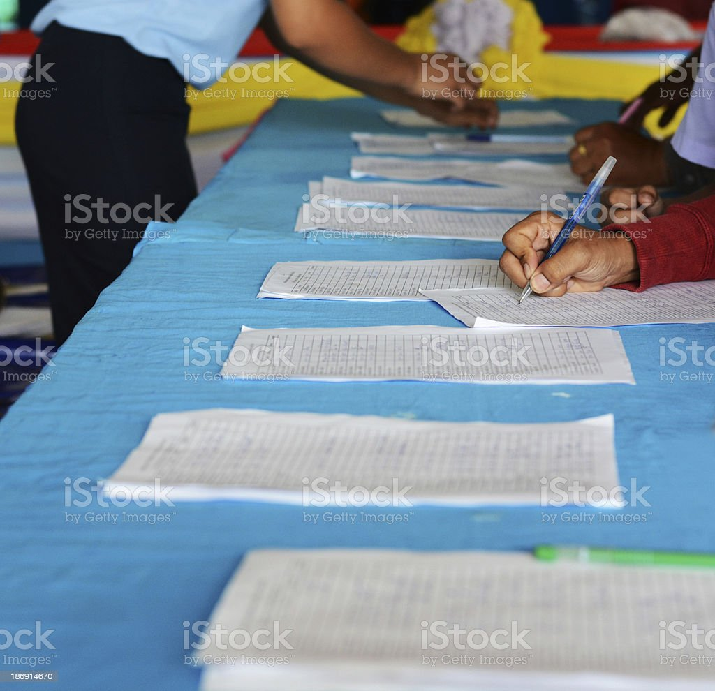 Registration to attend the training. stock photo