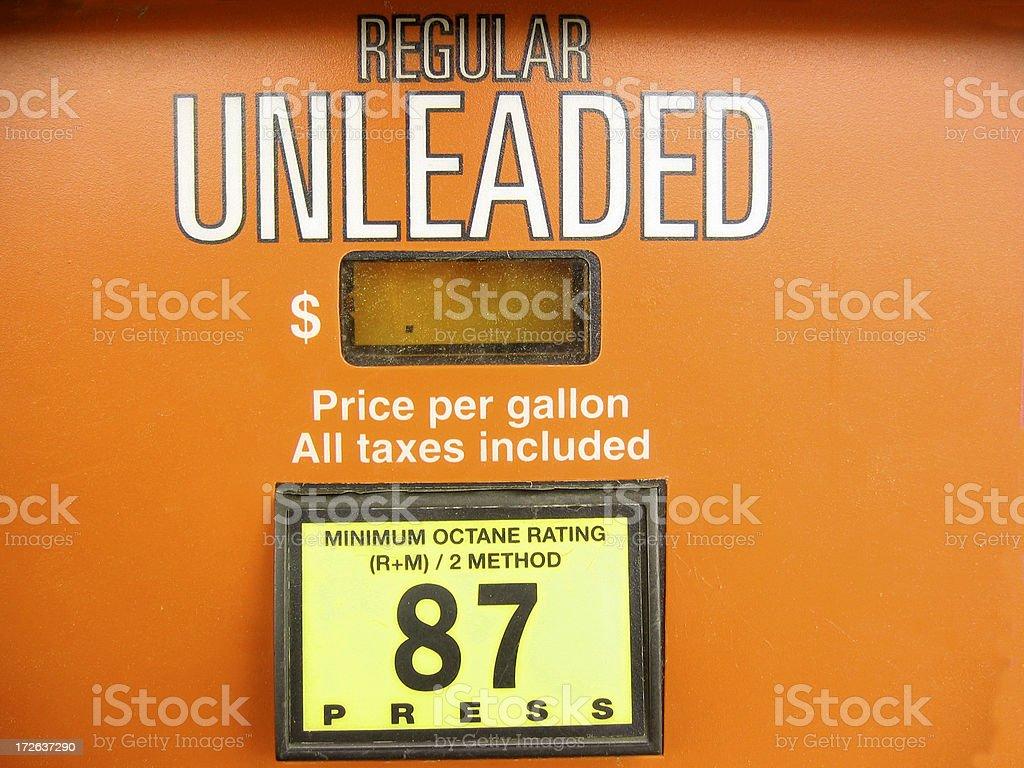 Regular Unleaded stock photo