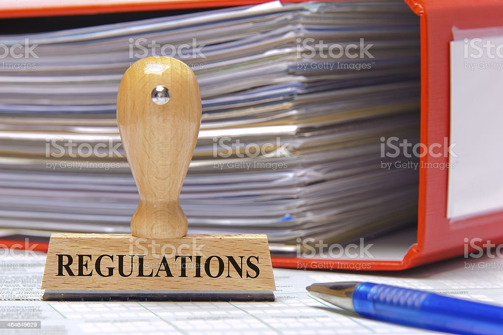 regulations stock photo