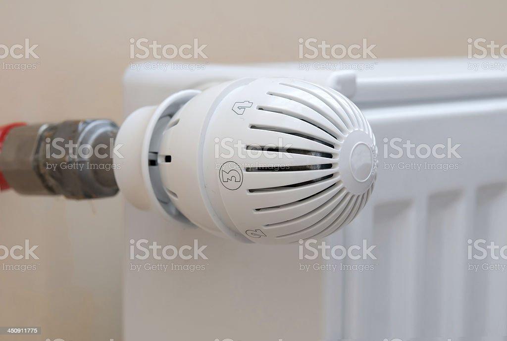regulator of radiator stock photo