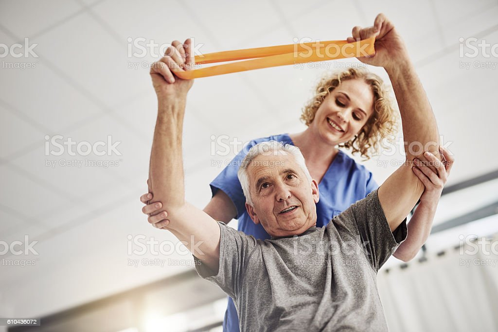 Rehabilitation is just the first step stock photo