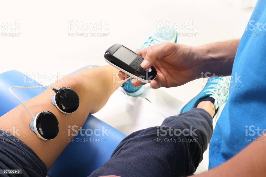 Rehabilitation, ultrasound stock photo