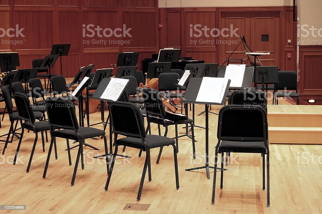 Rehearsal Hall Stage stock photo