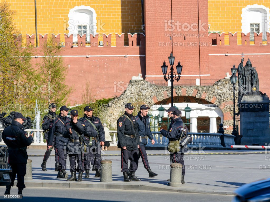 MOSCOW, RUSSIA - MAY 3, 2017: Rehearsal of the Victory Parade on May 9 in Moscow. stock photo