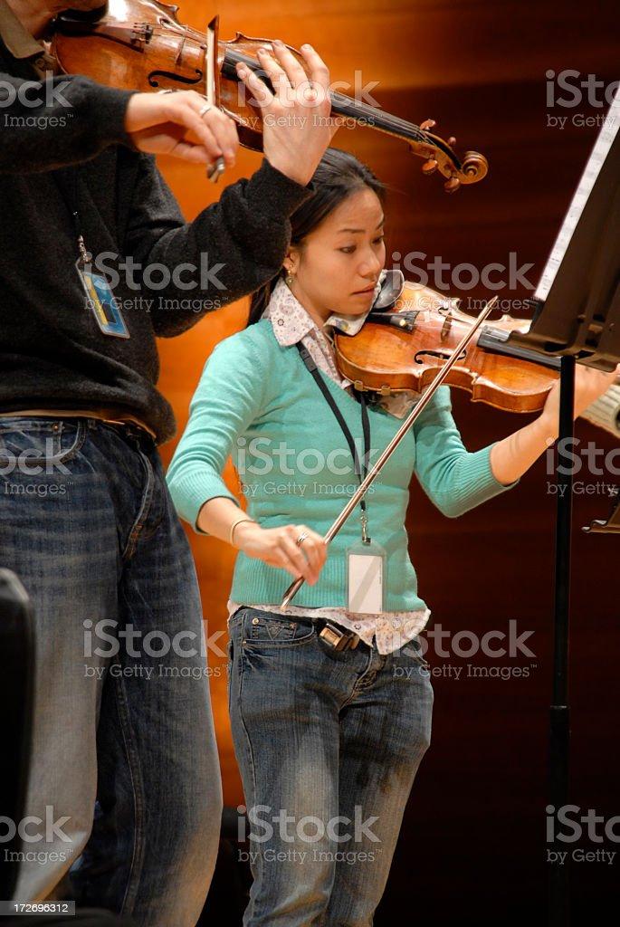 Rehearsal royalty-free stock photo
