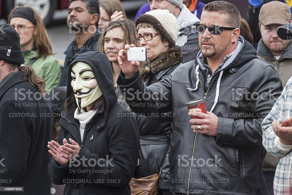 Rehtaeh Parsons Protest royalty-free stock photo