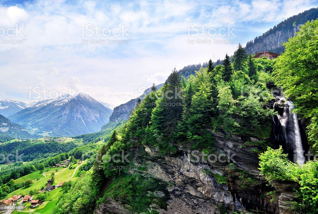 Reichenbach Falls stock photo