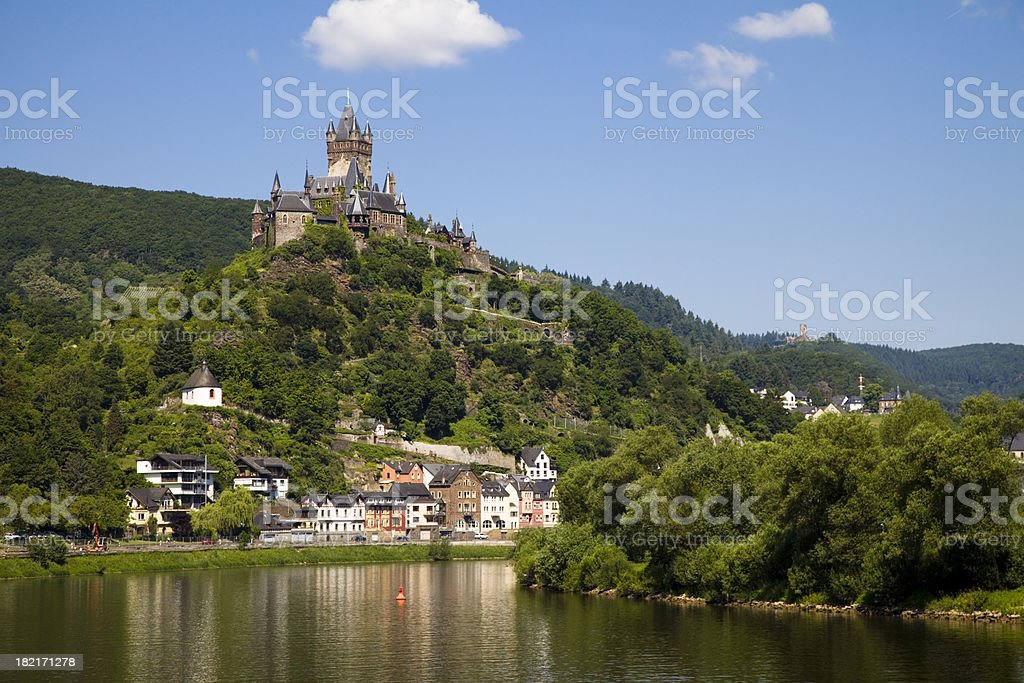 Reichsburg Cochem in the Mosel Valley stock photo