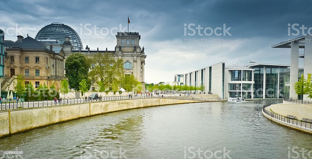Reichstag and Band des Bundes stock photo