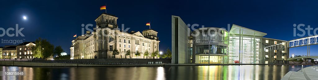 Reichstag and Spree river, Berlin (XXXL) royalty-free stock photo
